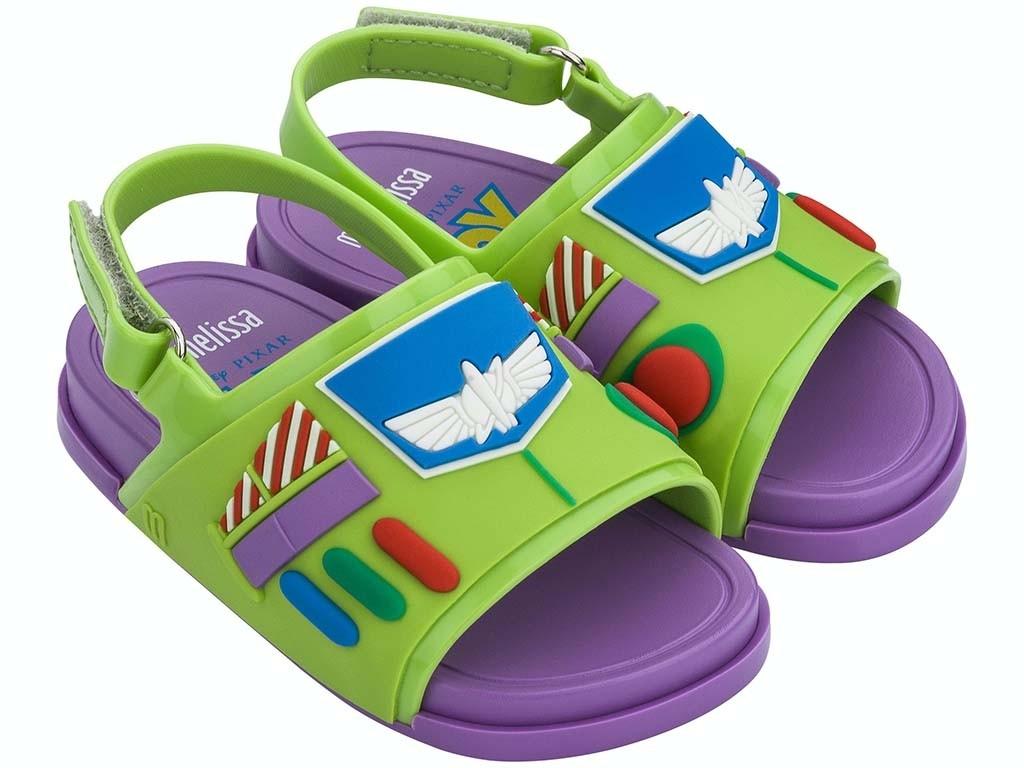 Sandalias Mini Melissa Beach Slide Toy Story Buzz Lightyear